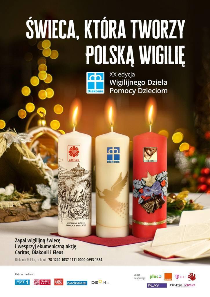 świeca, która tworzy polską wigilię