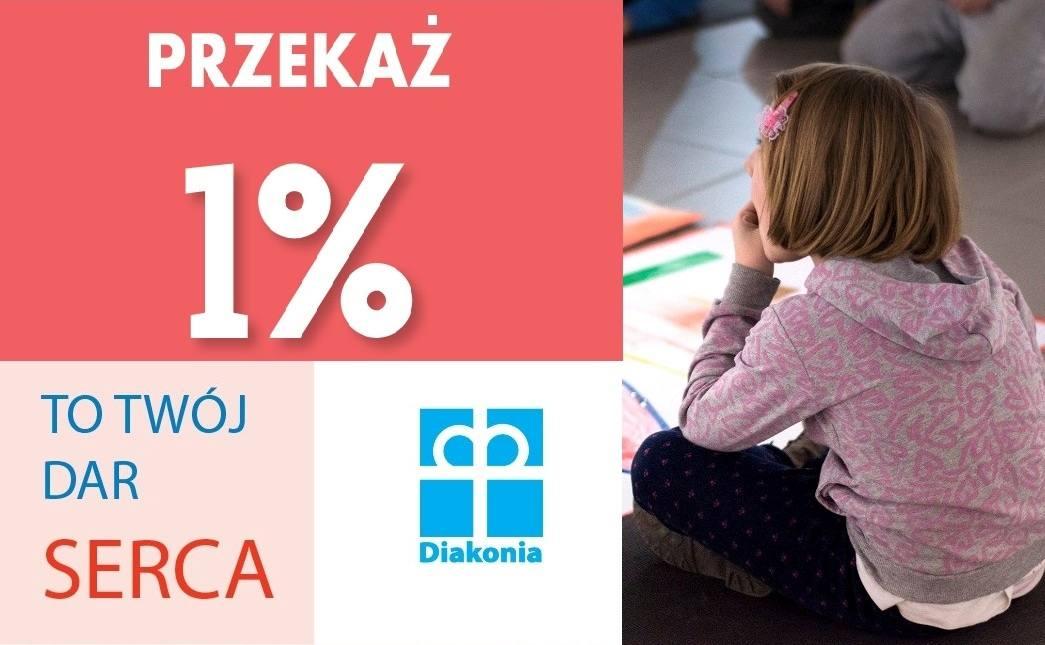Podaruj 1% podatku Diakonii